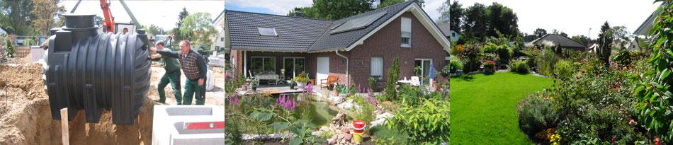 Komplette Gartengestaltung incl. Teichbau und Berwässerungstechnik von Pachmann Galabau Berlin